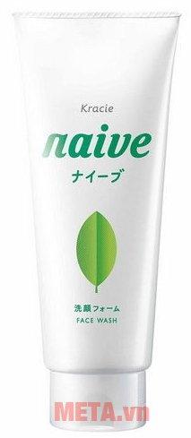 Sữa rửa mặt trà xanh Naive 120g chứa các thành phần thiên nhiên