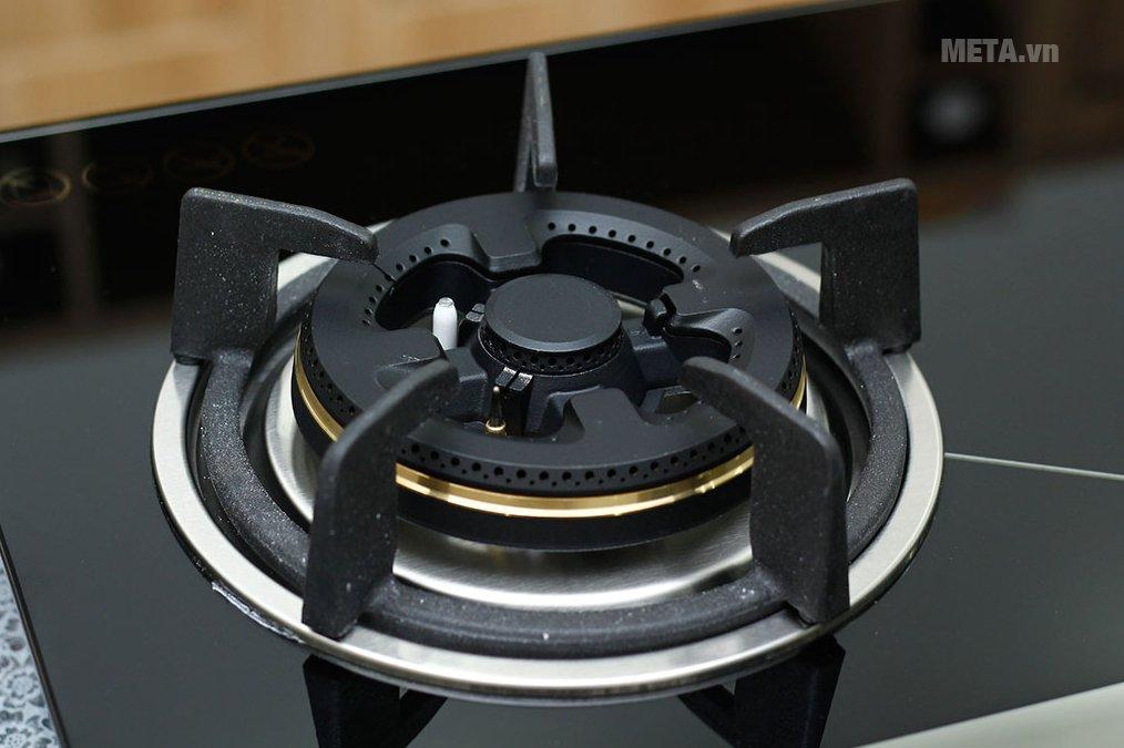 Bếp ga âm kính Sunhouse SHB8836 với kiềng bếp bằng gang