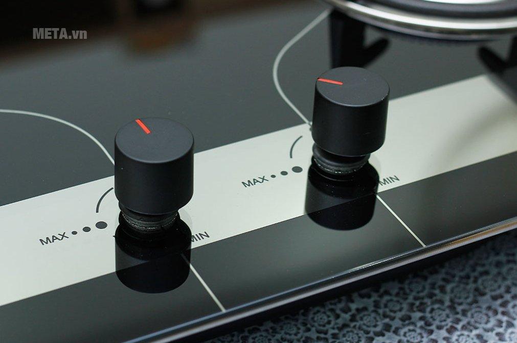Bếp ga âm kính Sunhouse SHB8836 dễ dàng sử dụng với nút điều chỉnh
