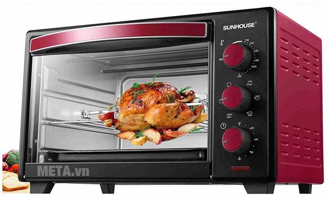 Lò nướng Sunhouse SHD4222 màu đỏ