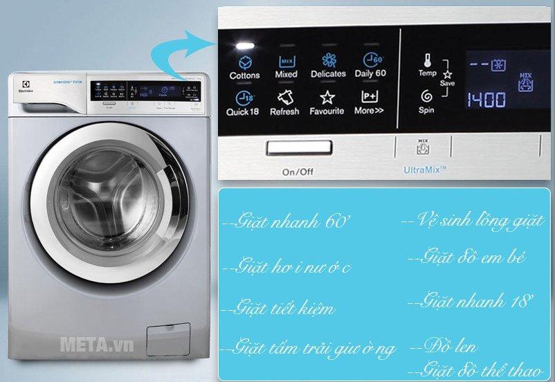 Máy giặt cửa trước 11kg Electrolux EWF14113S với bảng điều khiển tiện lợi