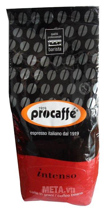 Cà phê hạt Procaffe Intenso được đóng gói dạng túi