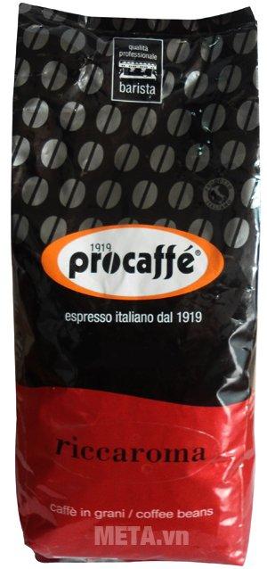 Cà phê hạt Procaffe Riccaroma được đóng gói dạng túi