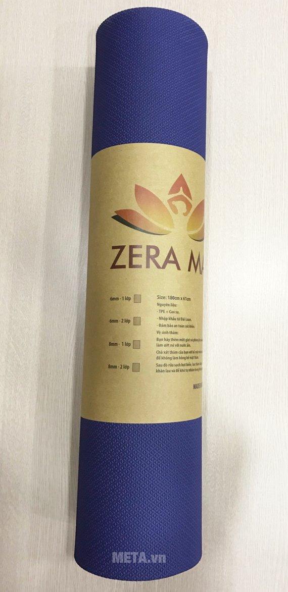 Thảm Yoga Zera Mat 8 lyn có thiết kế đẹp mắt