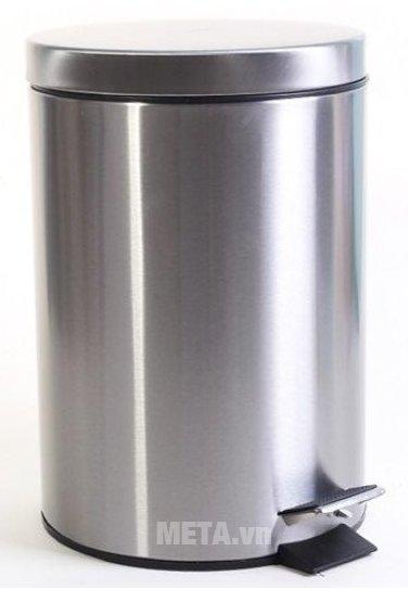 Thùng rác inox ECO 101/7L được thiết kế hình trụ tròn