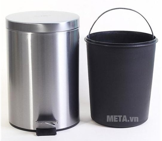 Thùng rác inox ECO 101/7L có thiết kế tiện lợi