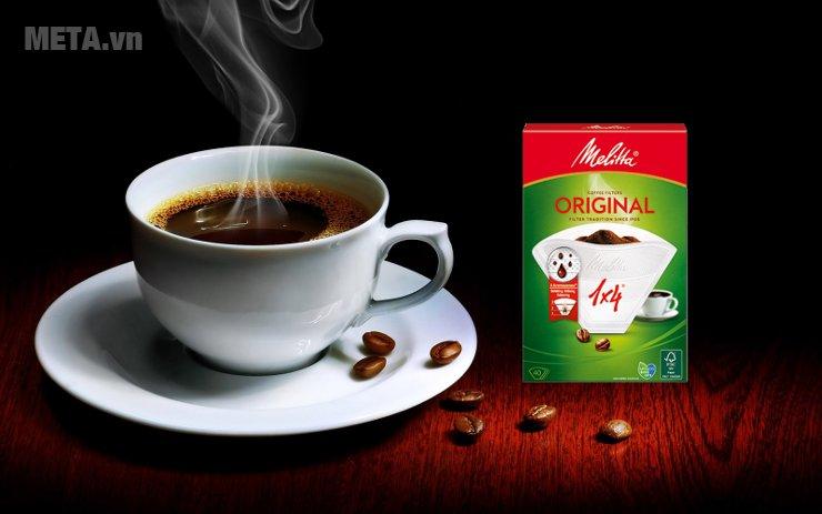 Bộ 5 hộp giấy lọc Melitta 1x4/40 giúp bạn thưởng thức hương vị cà phê cổ điển