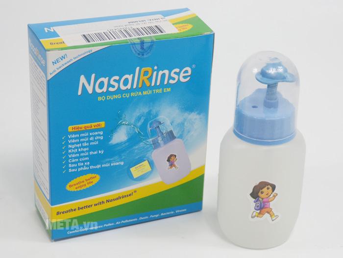 Hỗn hợp rửa mũi đi kèm bình rửa mũi cho bé Nasal Rinse