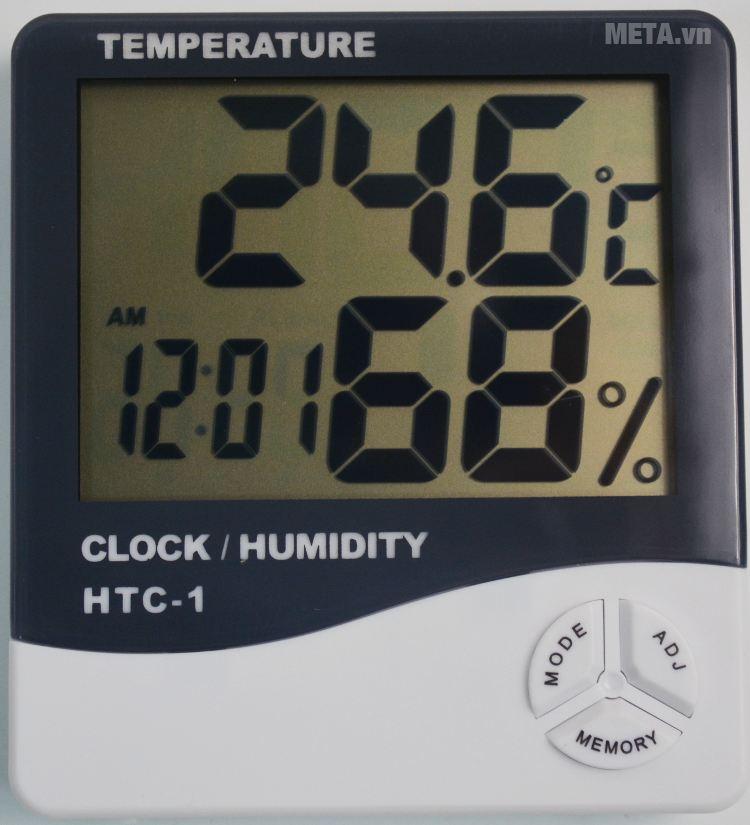 Nhiệt ẩm kế điện tử HTC-1 giúp bạn biết được chính xác nhiệt độ, độ ẩm không khí trong nhà.