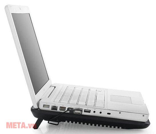 Đế tản nhiệt laptop DeepCool N19 sử dụng dễ dàng qua cổng USB