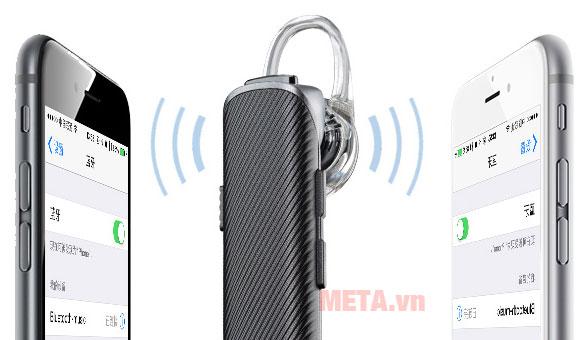 Thiết bị có thể kết nối với 2 thiết bị di động