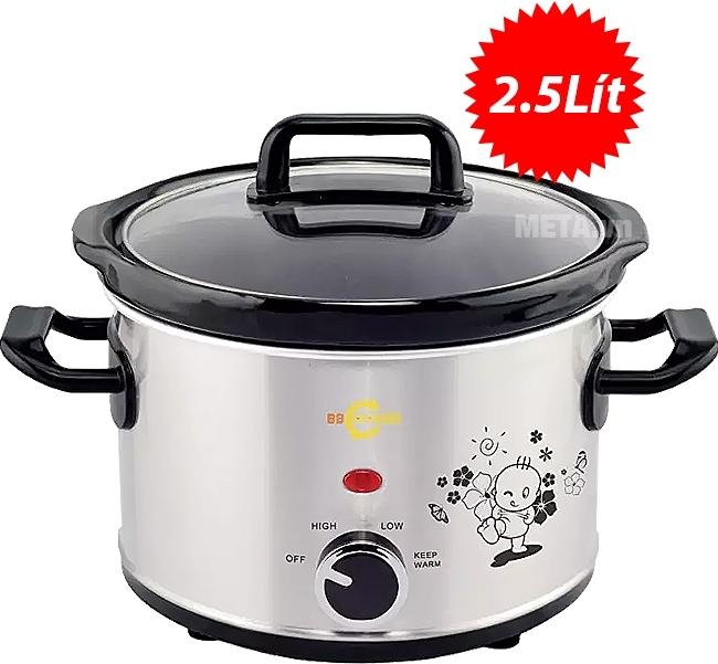 Nồi nấu cháo đa năng Hàn Quốc BBCooker (2,5 lít) giữ trọn nguyên vẹn dưỡng chất
