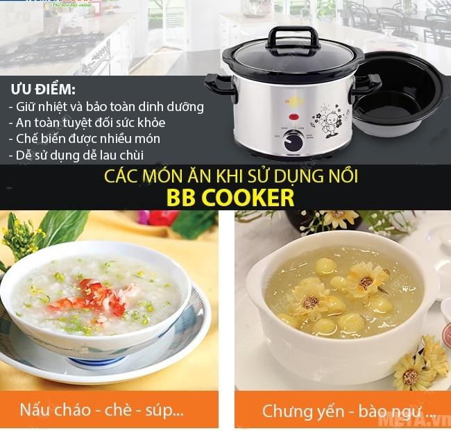 Nồi nấu cháo đa năng Hàn Quốc BBCooker (2,5 lít) nấu cháo, chè, soup, chưng yên, bào ngư..