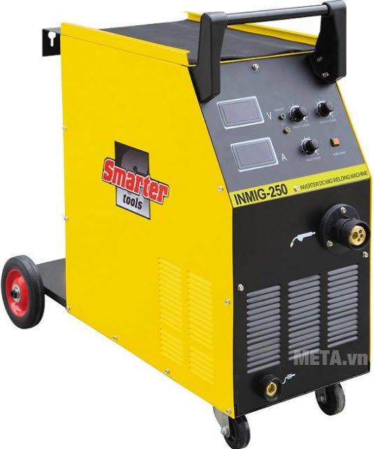 Máy hàn SMARTER INMIG-250 thiết kế có 4 bánh xe