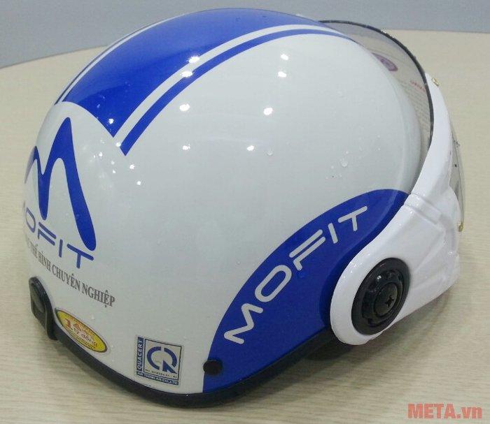 Mũ bảo hiểm Mofit màu trắng xanh