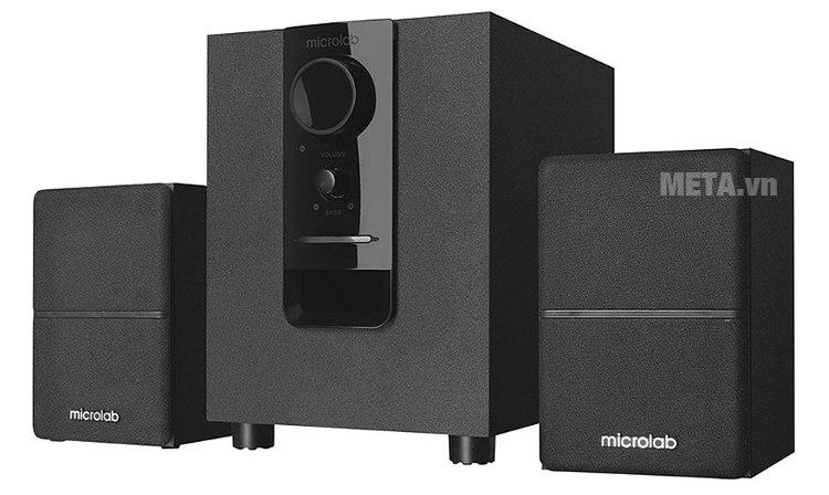 Loa vi tính Bluetooth Microlab M-106BT có 2 loa vệ tinh và 1 loa sub
