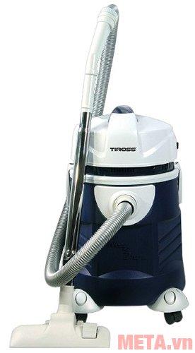 Máy hút bụi công nghiệp Tiross TS9301 có bánh xe dễ dàng di chuyển.