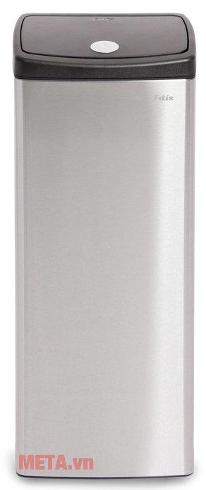 Thùng rác inox nhấn vuông lớn Fitis STL1-901 với vỏ ngoài inox cao cấp