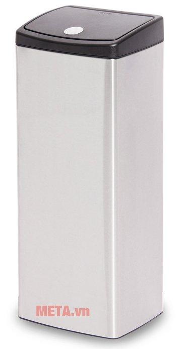 Thùng rác inox nhấn vuông lớn Fitis STL1-901 có thiết kế tiện lợi
