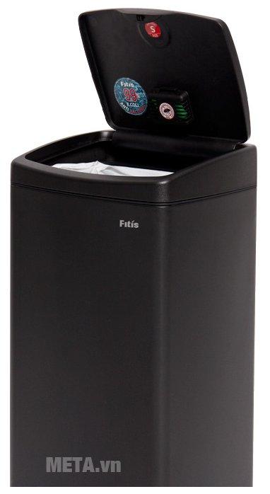 Thùng rác inox nhấn vuông lớn Fitis STL1-903 - 22 lít dễ dàng sử dụng