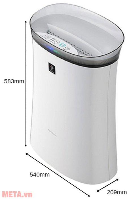 Kích thước của máy lọc không khí Sharp FP-F40E-W