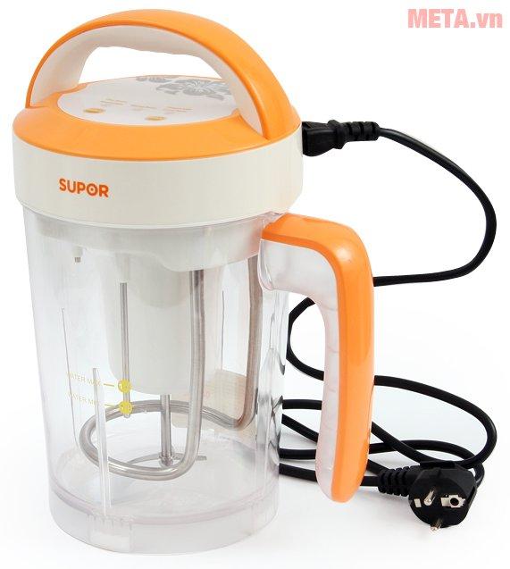 Máy làm sữa đậu nành Supor Easy Cleaning DJ14B-W08SVN giúp làm sữa đậu nành tự động chỉ mất 25 phút
