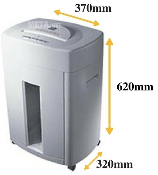 Máy hủy giấy LBA P-13CD nhỏ gọn di chuyển dễ dàng bằng 4 bánh