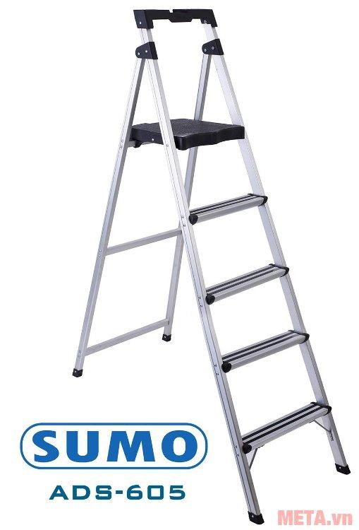 Thang ghế 5 bậc Sumo ADS-605 làm bằng nhôm không gỉ sét