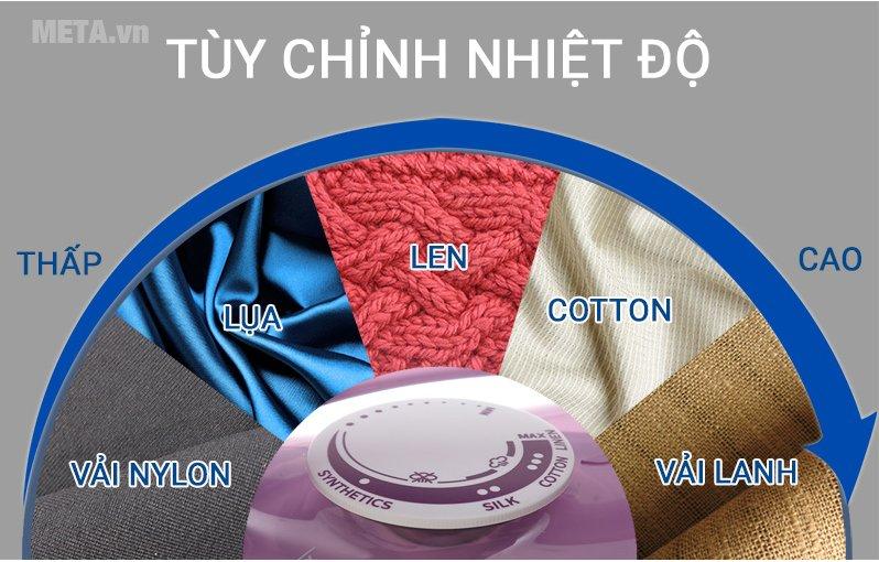 Bàn là hơi nước Philips GC1426/37 có thể điều chỉnh nhiệt độ