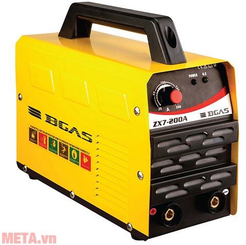 Máy hàn điện tử Bgas ZX7-200A cho mối hàn đẹp, tia hàn bắn ra ít và hoạt động với tiếng ồn thấp.