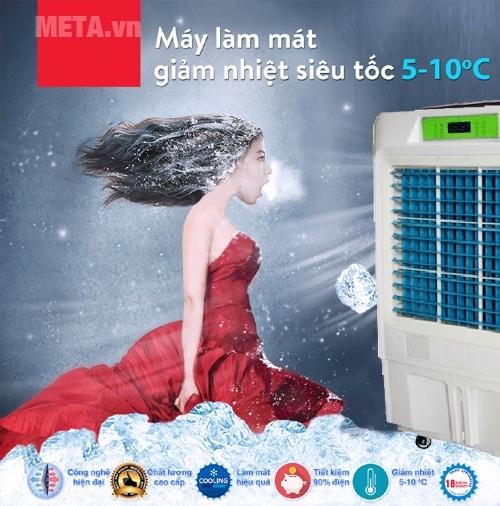 Giảm nhiệt siêu tốc 5 - 10 độ C