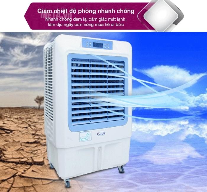 Cơn nóng sẽ được xua tan nhanh chóng với chế độ làm lạnh