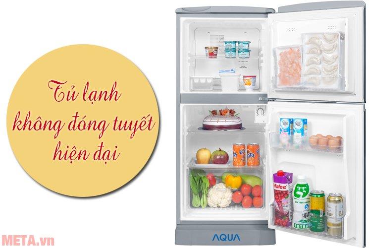 Tủ lạnh Aqua 110 lít AQR-125BN có 2 cánh