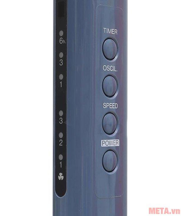 Bảng điều khiển trên thân quạt đứng Panasonic F-409KB