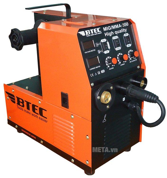 Máy hàn Btec MIG/MMA-350 hàn vật liệu cực nhanh, tiết kiệm điện