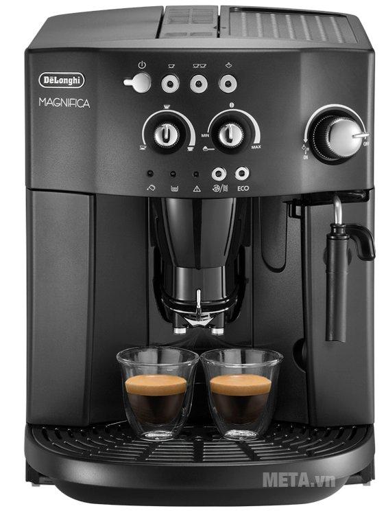 Máy pha cà phê tự động Delonghi Esam4000.B pha cùng lúc 2 tách cà phê