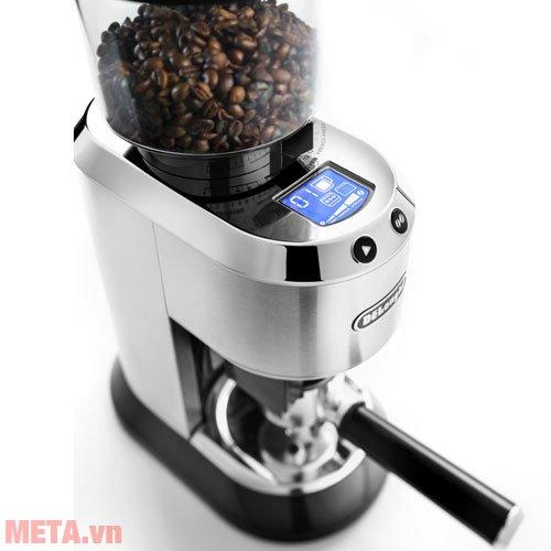 Máy xay cà phê Delonghi KG521.M có vỏ bằng kim loại