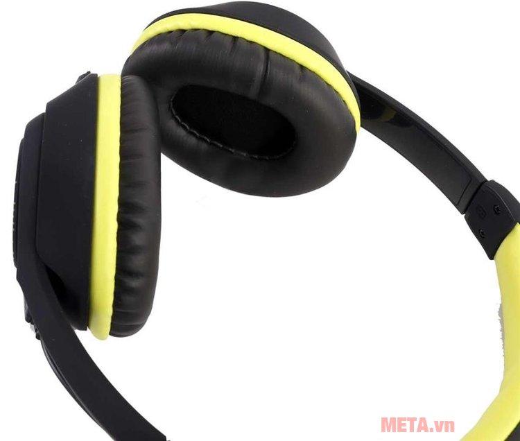 Tai nghe Microlab K320 ôm khít tai giúp hạn chế tạp âm