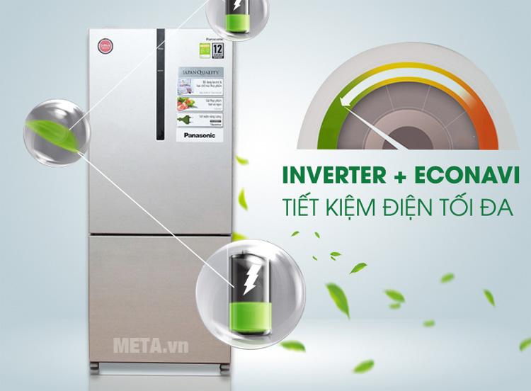 Tủ lạnh chỉ tiêu thụ điện khoảng 0,96 KW/ngày