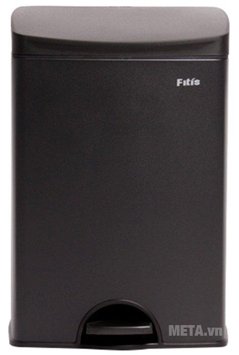 Thùng rác inox đạp vuông nhỏ Fitis SPS1-903 có dung tích bên trong 15 lít