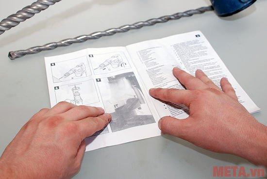 Nên đọc kỹ hướng dẫn sử dụng để hiểu về tính năng và cấu tạo của máy khoan