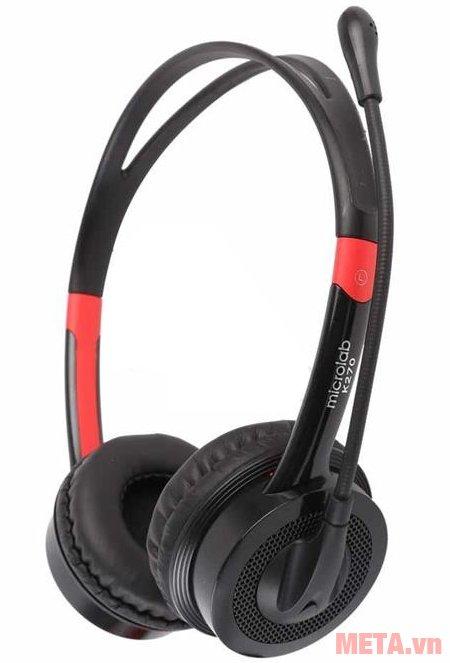 Tai nghe Microlab K270 có mã sản phẩm trên thân tai nghe