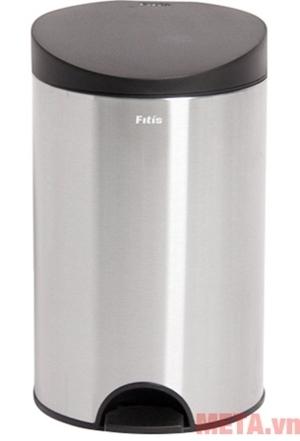 Thùng rác inox RPS1-901 với màu bạc sang trọng và thiết kế hiện đại
