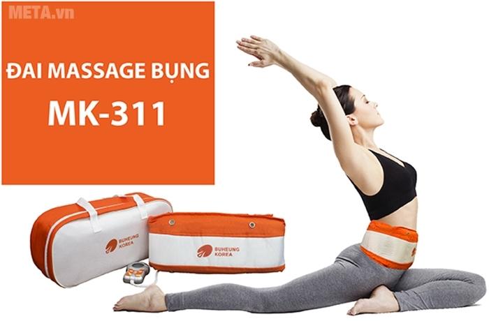 Đai massage bụng kết hợp cùng việc tập luyện thể dục, ăn uống sẽ giúp việc giảm mỡ vòng 2 thêm phần hiệu quả.