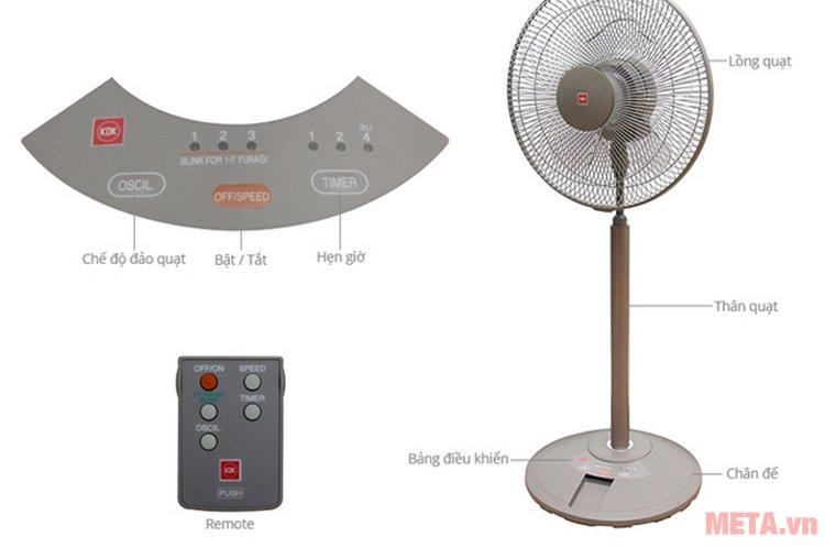 Quạt cây KDK N30NH có nhiều tính năng tích hợp trên cùng một sản phẩm