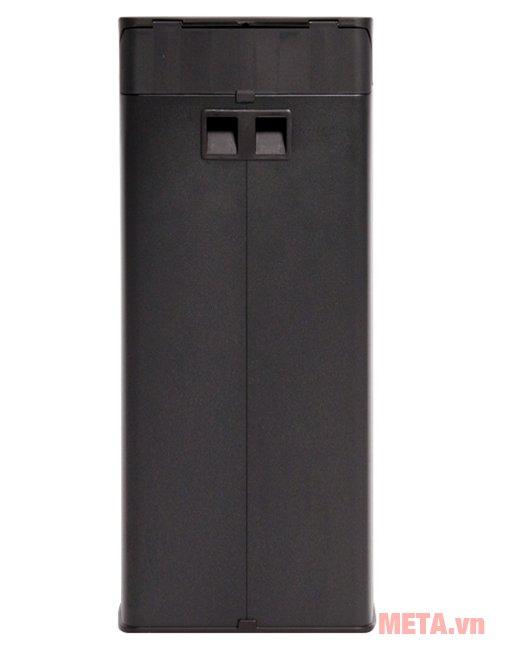 Mặt phía sau của thùng rác inox đạp vuông lớn Fitis SPL1-903