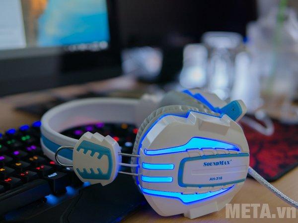 Tai nghe SoundMax AH-316 có đèn led