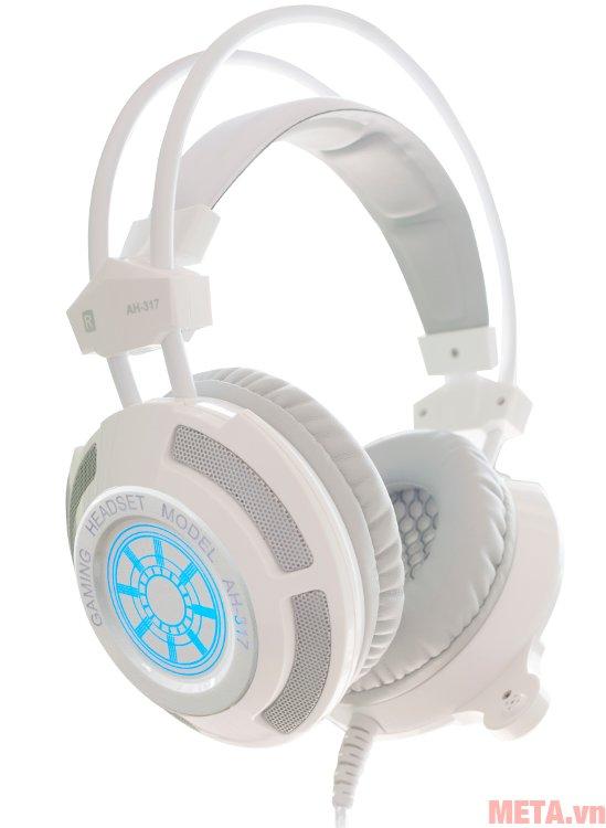 Tai nghe SoundMax AH-317 có màu trắng sang trọng
