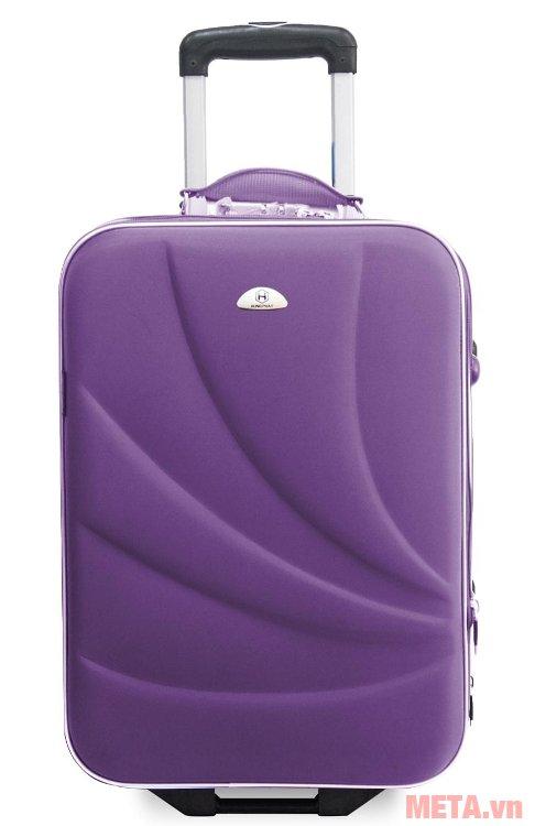 Vali thường 2 bánh VLT003K 20 inch làm bằng vải bọc nhựa không thấm nước