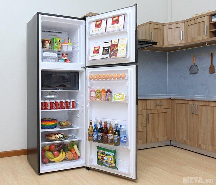 Tủ lạnh Sharp inverter SJ-X346E-DS sắp xếp ngăn để thực phẩm thông minh